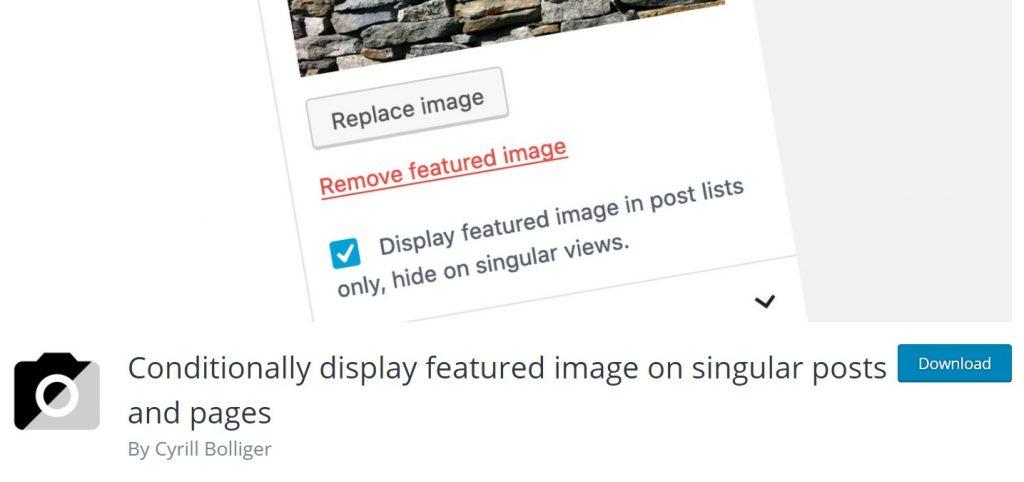 Hide Featured Image in Post WordPress Using Plugins