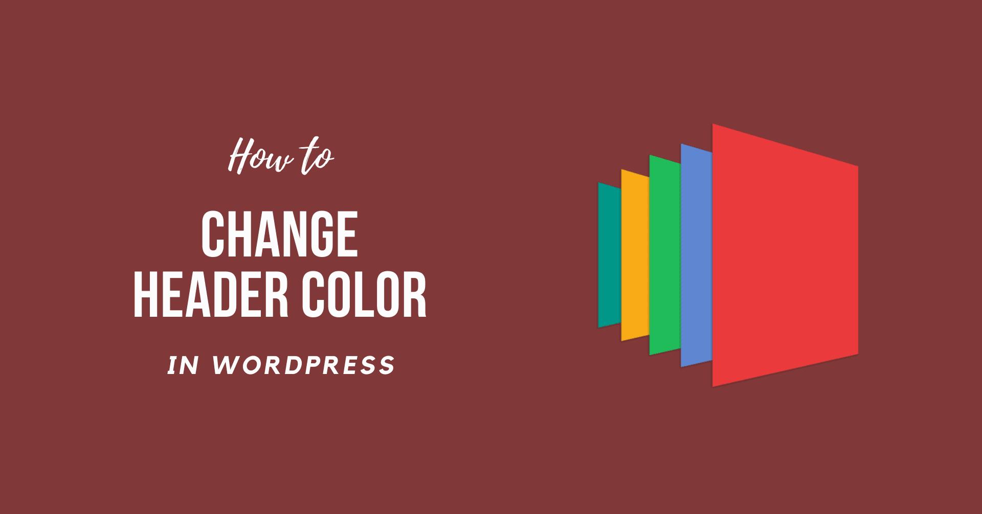 How to Change Header Color in WordPress