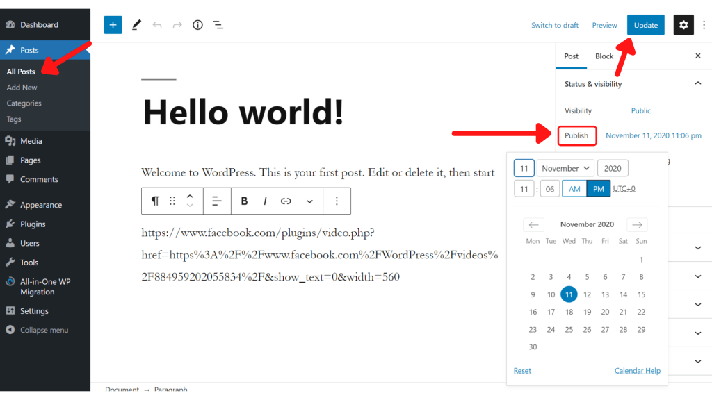 How to Change Post Date in WordPress
