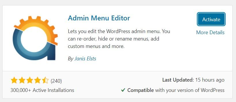 How to Edit WordPress Admin Menu Using Admin Menu Editor