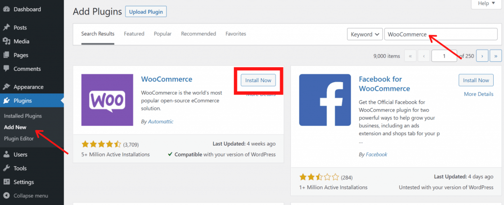 How to Install WooCommerce From Dashboard