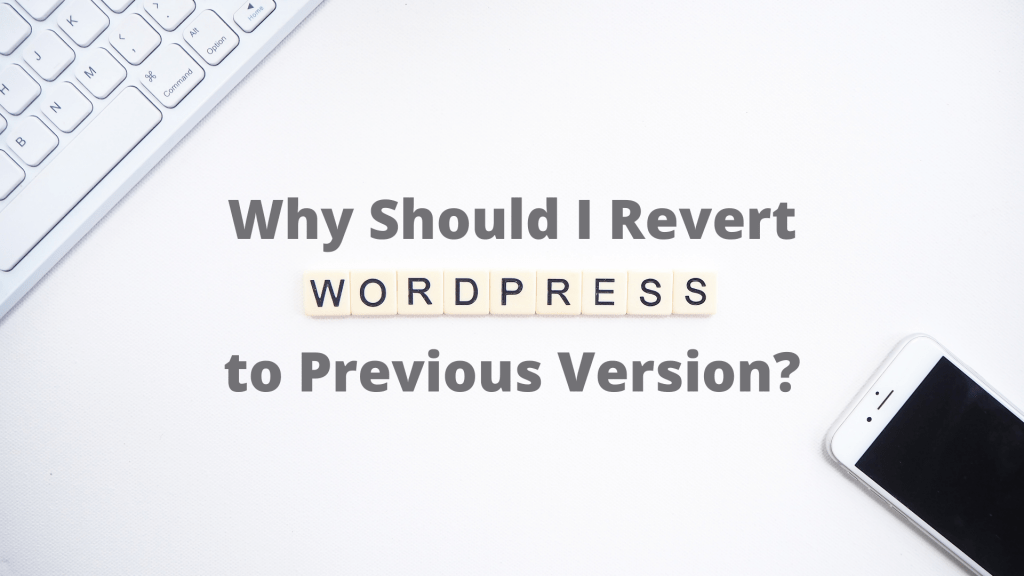 How to Revert WordPress to Previous Version