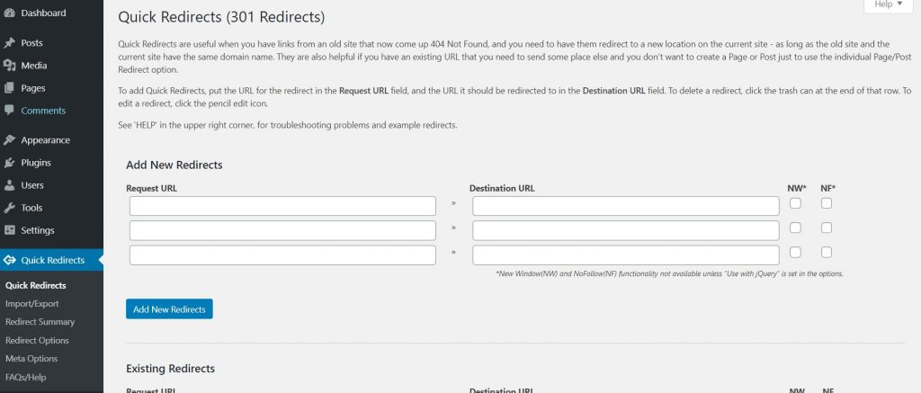 How to do a 301 redirect in WordPress