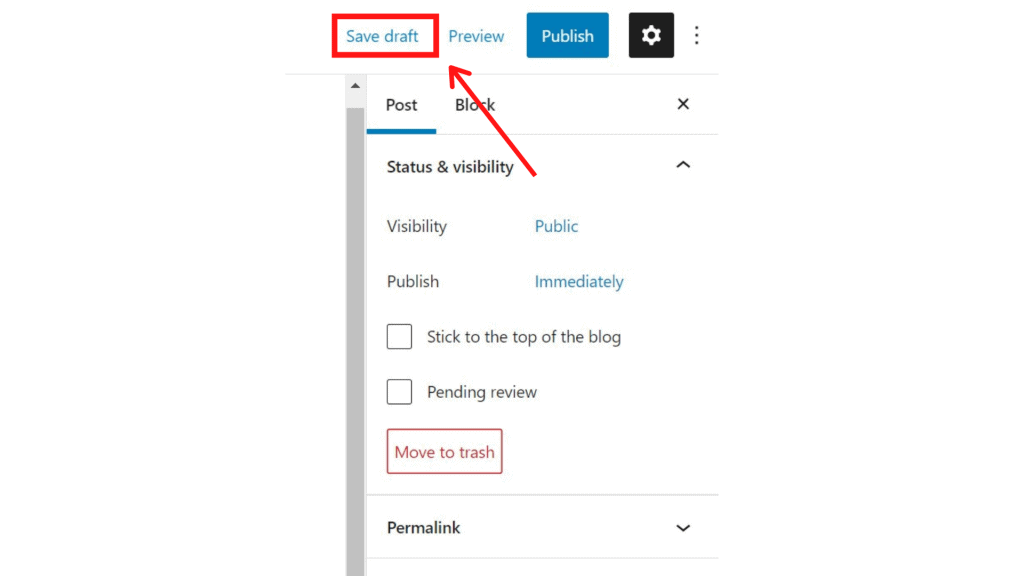 Where is the Publish Button on WordPress