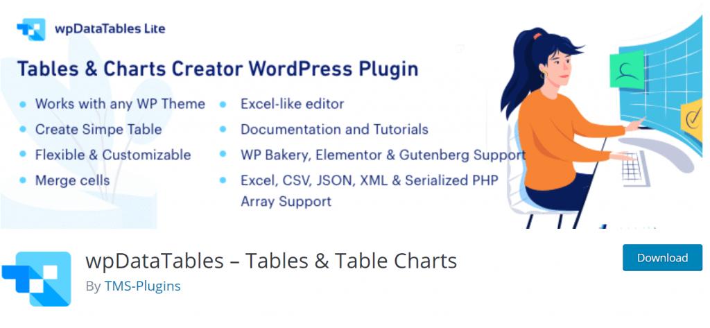 wpDataTable Best WordPress Table Plugin